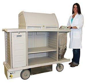 powered housekeeping cart