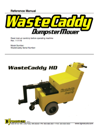 Wastecaddy User Guides
